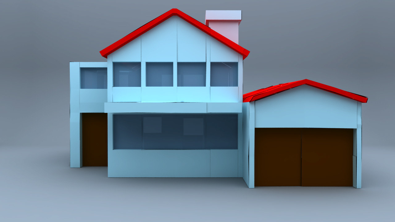 House paper rigged 3d model for Build a 3d house online