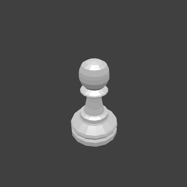 free chess pawn 3d model