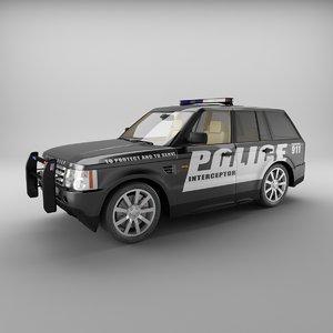 3ds range rover sport police