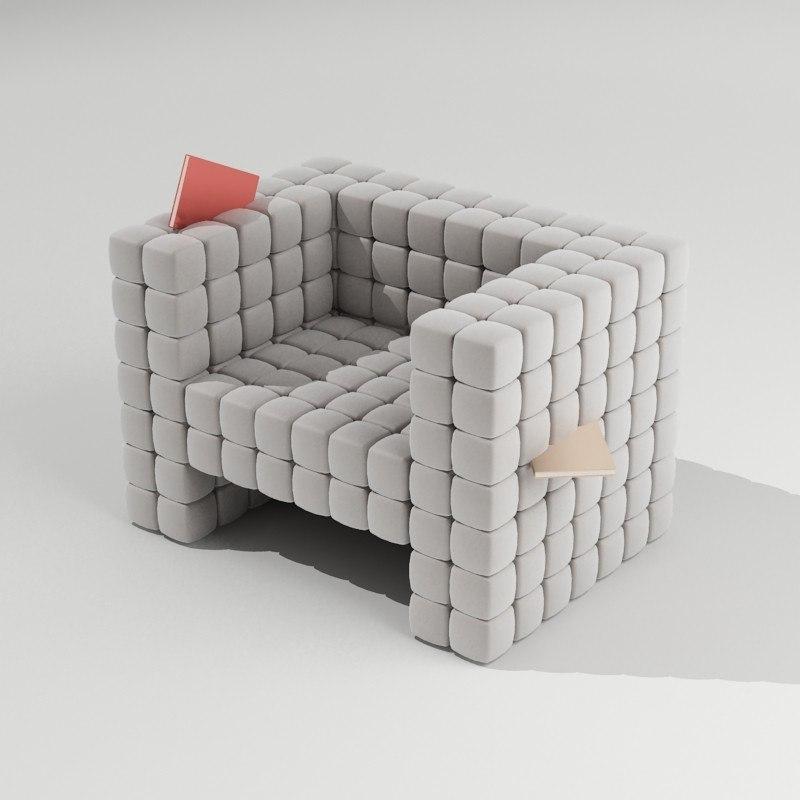 3d unique chair model
