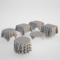 tablecloth set 3d model