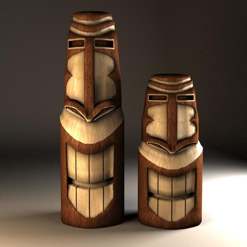 max wooden tiki