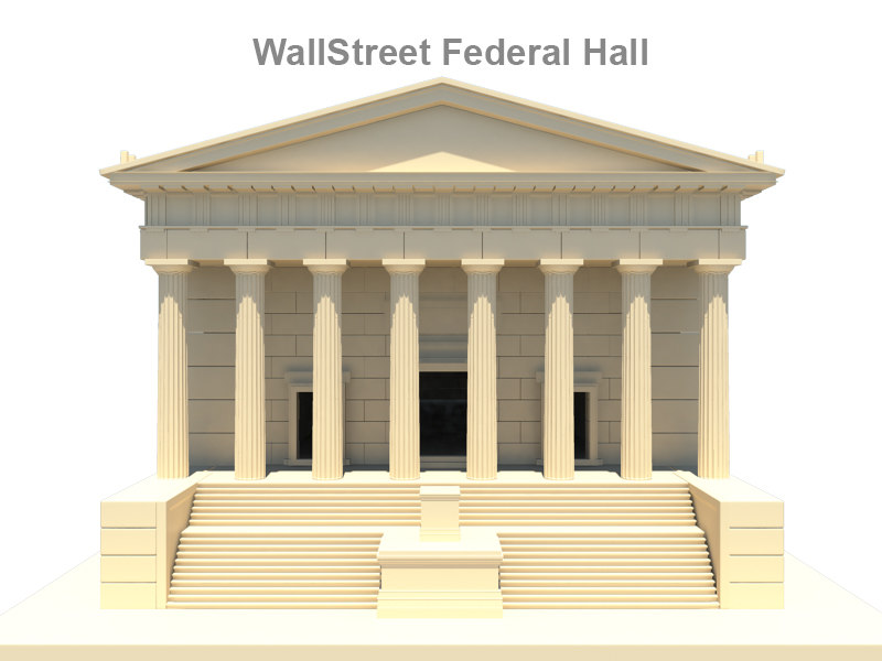 3d model of federal hall wall street