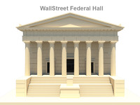 Wall Street Federal Hall 3D