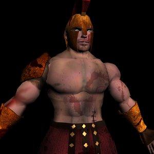 3d roman warrior model