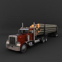 truck log 3d max