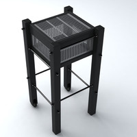barbecue exterior 3d model