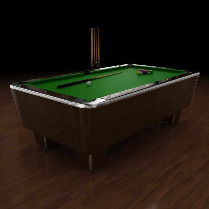 3d model pool table 8