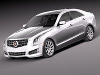 3d cadillac ats 2013 luxury