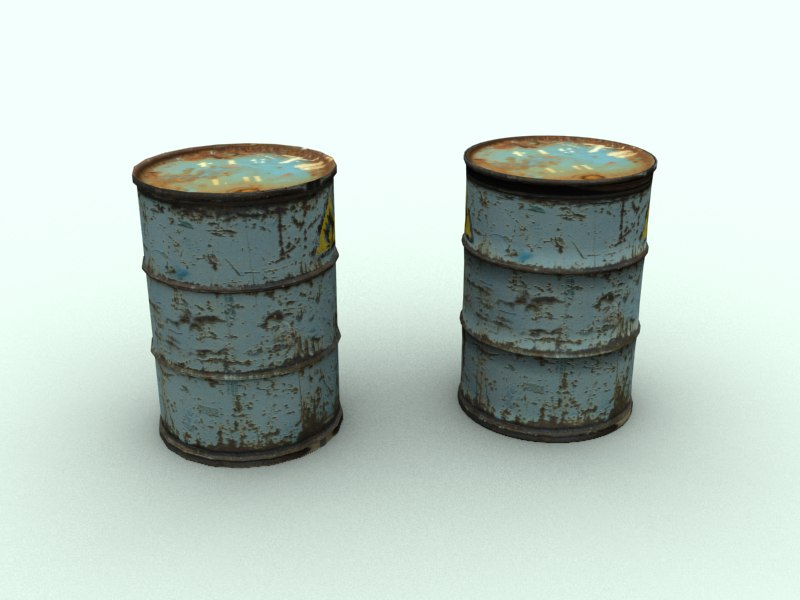 3d barrel uvmapped model