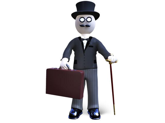 ma cartoon character banker