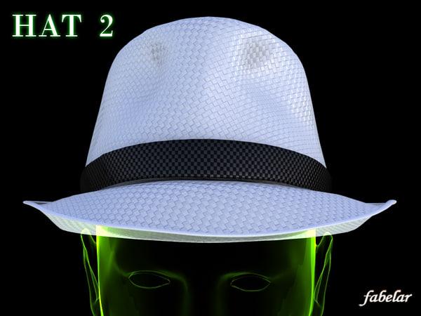 3d modern hat