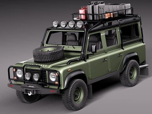 Land Rover Models >> Land Rover Landrover Defender 3d Model