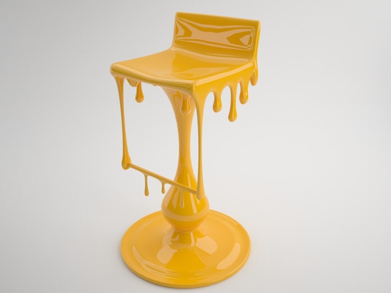 3d model bar chair