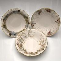 Soup Plates Hunting Theme Set
