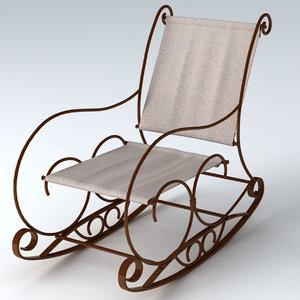 3ds max garden chair