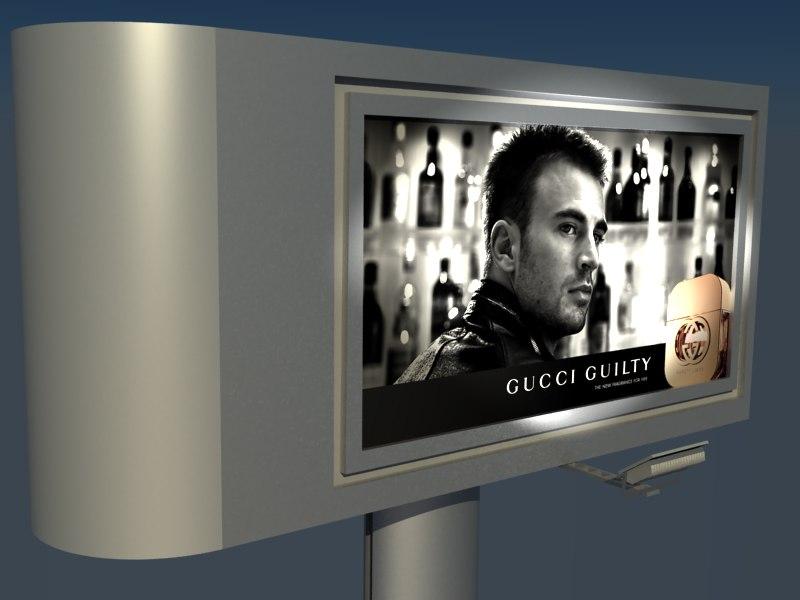 totem billboard advertisement 3d ma