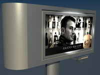 totem billboard advertisement 3d ma