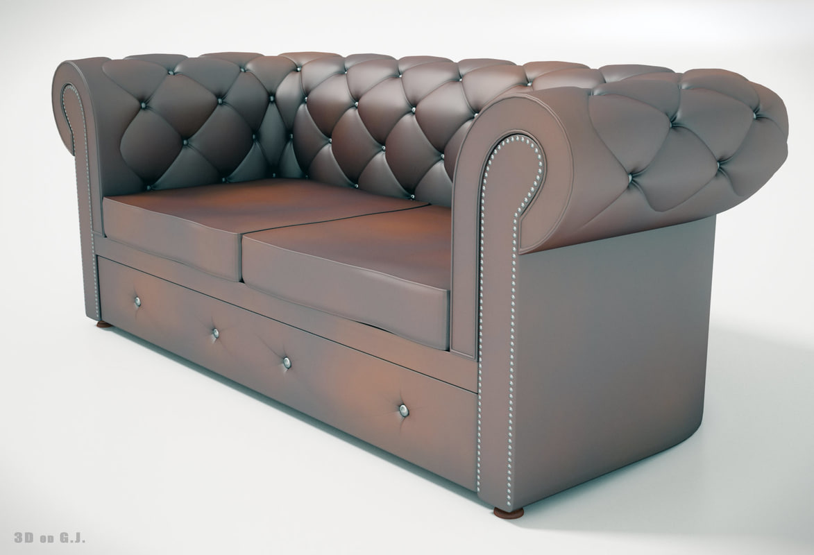 max pieces furniture chesterfield leather sofa