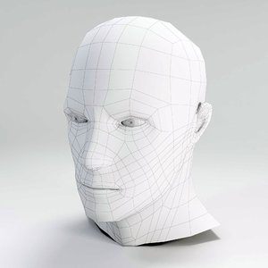 free basic male head 3d model