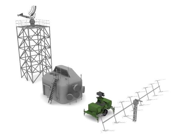 radar military 3d model
