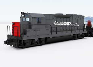 3d dxf freight train engine