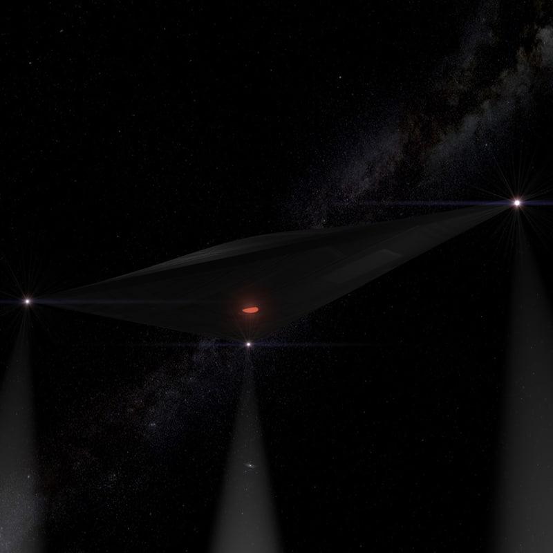 3d 3ds ufo stealth blimp