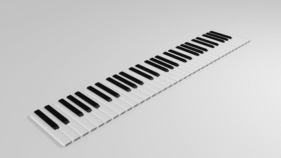 piano key 3d model