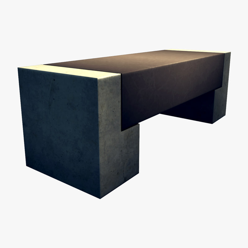 resolution square bench 3d max
