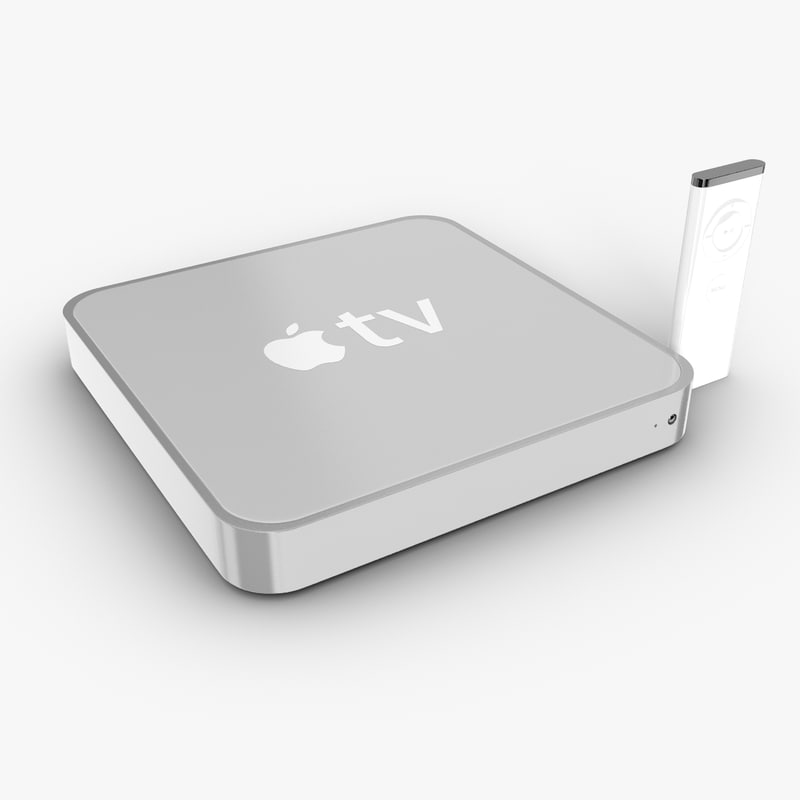 3d model apple tv media player