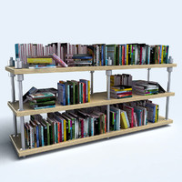 3ds max bookshelf book