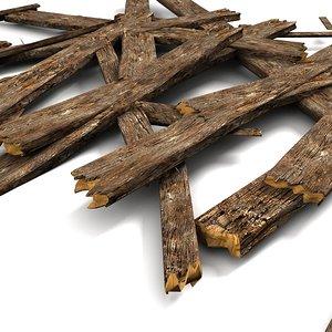 wood plank debris 3d max