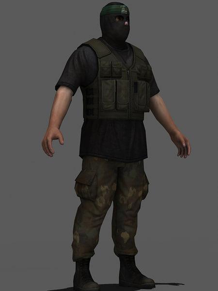 3d military hamas model