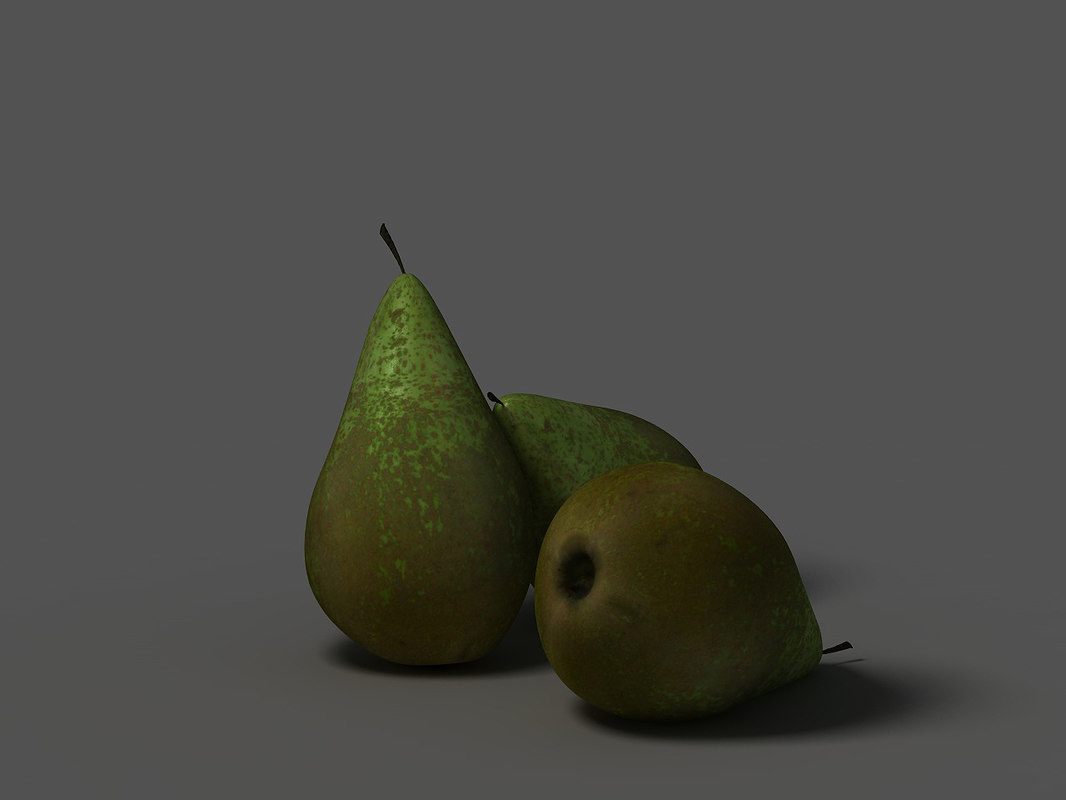 3ds max realistic pear