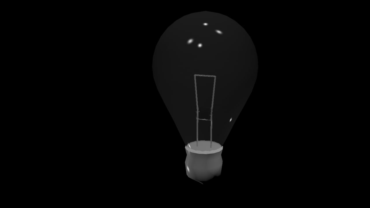 free light lightbulb bulb 3d model