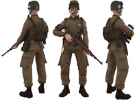 airborne human soldier 3d ma