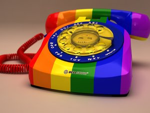 3ds max corded rotary phone