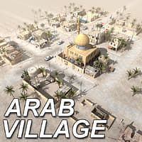 arab village houses 3d model