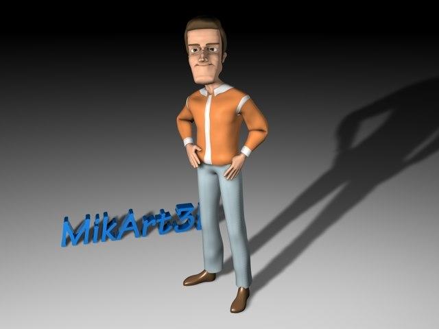 Cartoon Man Rigged & Animated