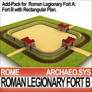 roman fort plan b 3d 3ds