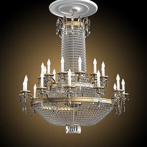 3d big chandelier crystal