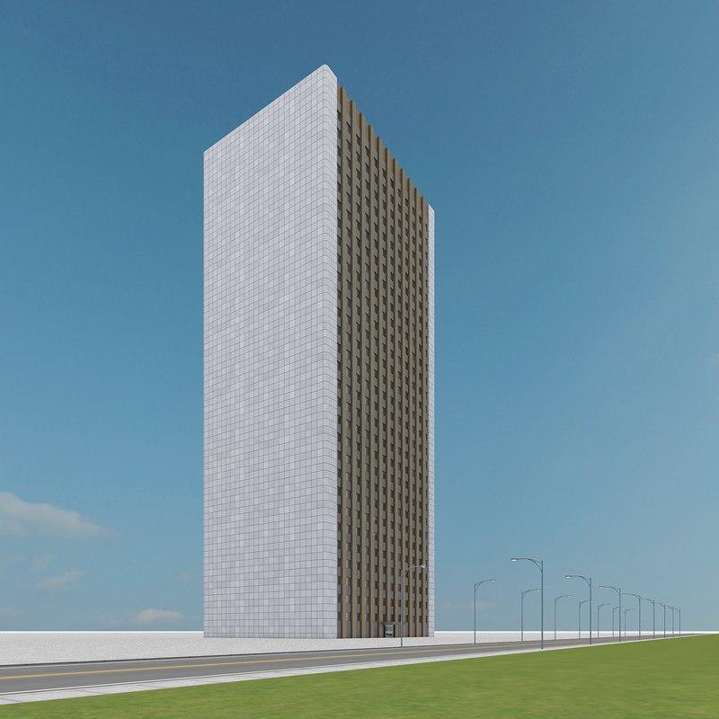 new skyscraper 44 3d max