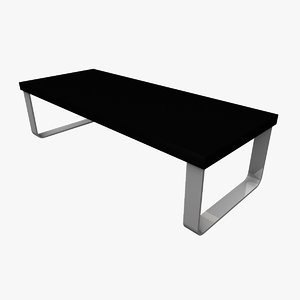 3d model coffee table rounded legs
