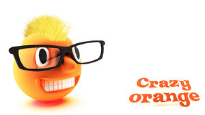 crazy orange 3d model