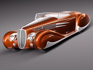 3d delahaye 1939 antique car