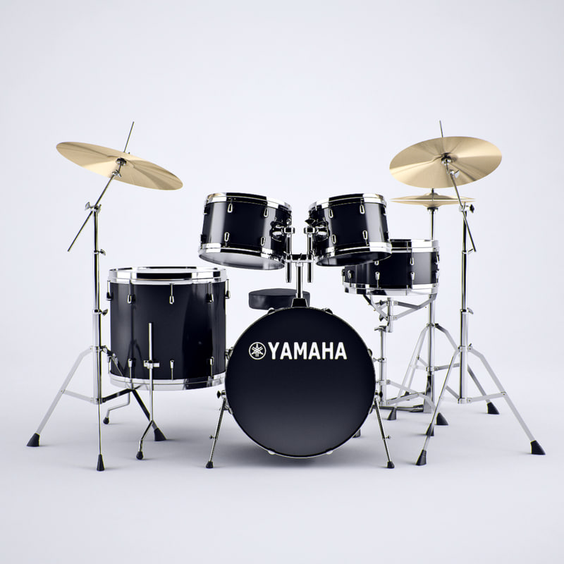 3d model yamaha drums set
