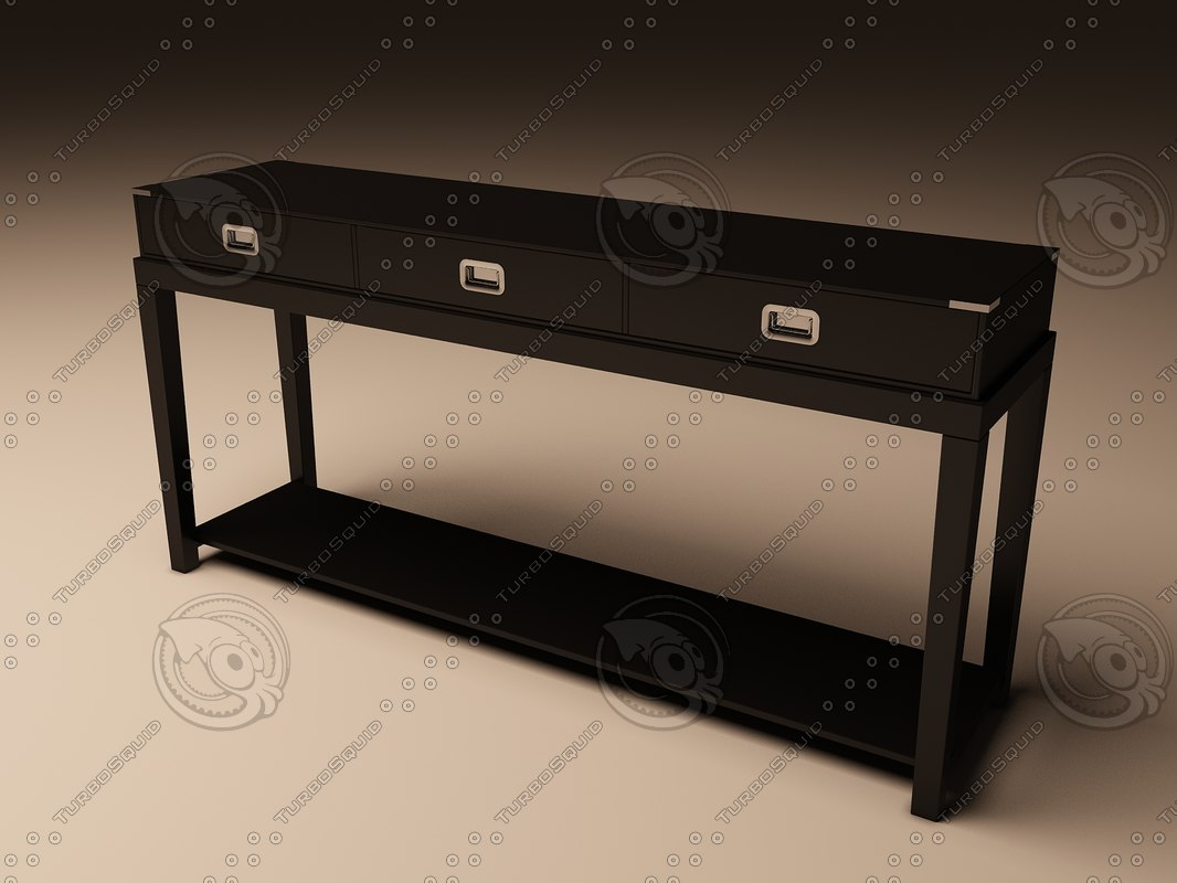 3d model eichholtz table console military