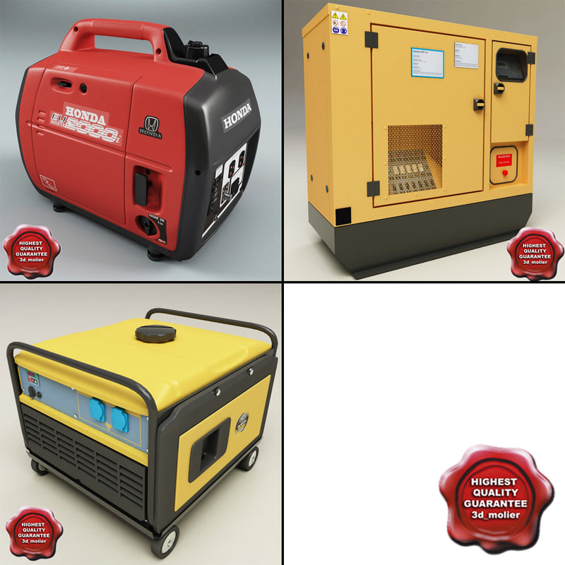 3d c4d electric generators