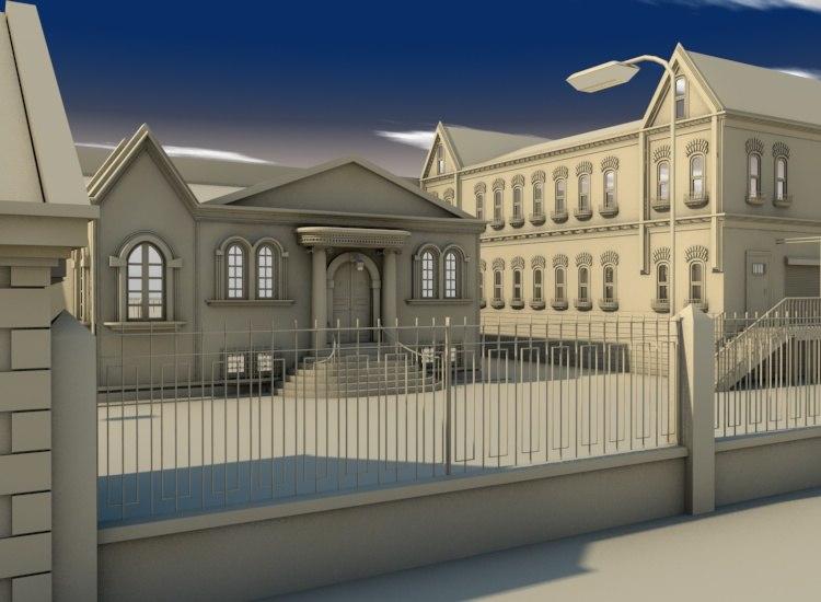 3d model factory complex