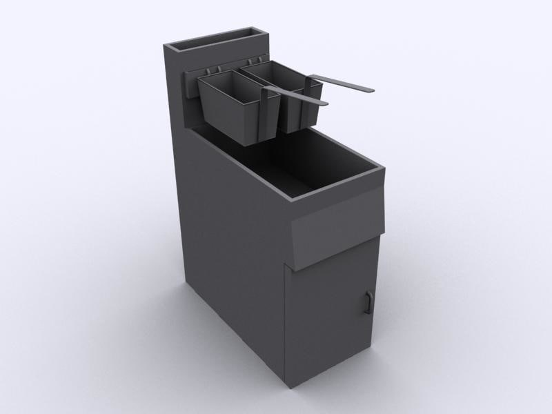3d fryer kitchen